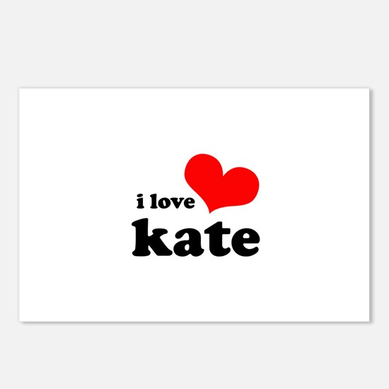 I Love Kate Postcards (Package of 8)