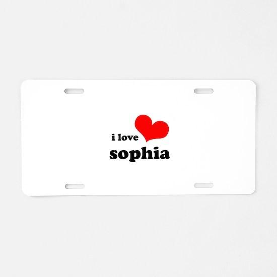 i love sophia Aluminum License Plate