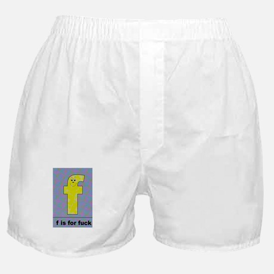 F is for F*Uck colorful tile look Boxer Shorts