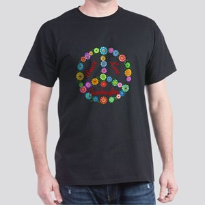 Peace Love Granddaughters Dark T-Shirt