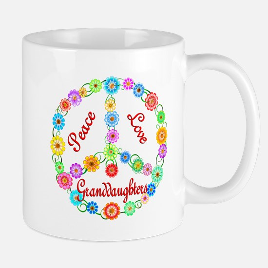 Peace Love Granddaughters Mug