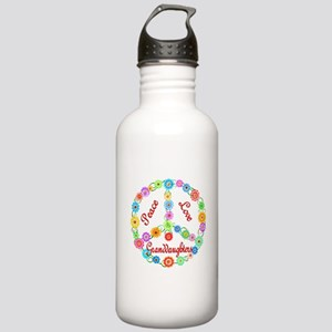 Peace Love Granddaughters Stainless Water Bottle 1