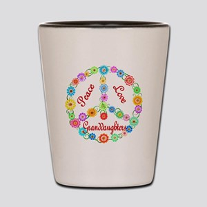 Peace Love Granddaughters Shot Glass