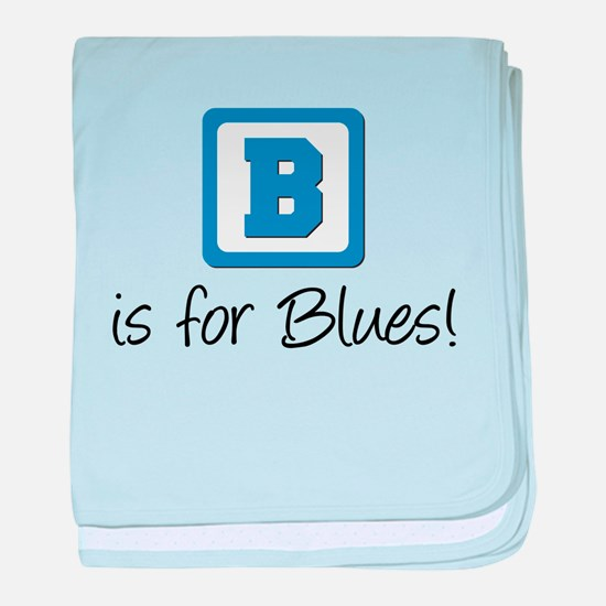 B Is For Blues baby blanket