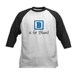 B Is For Blues Kids Baseball Jersey