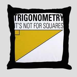 Trig Square Throw Pillow