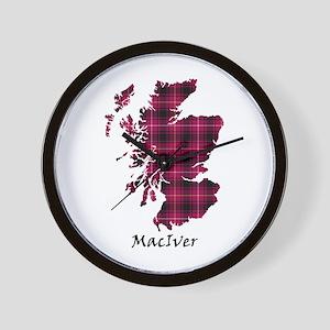 Map - MacIver Wall Clock