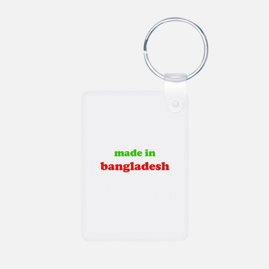 made in bangladesh (green/red Keychains
