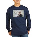 Animal (Front) Long Sleeve Dark T-Shirt