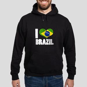I Heart Brazil Hoodie (dark)