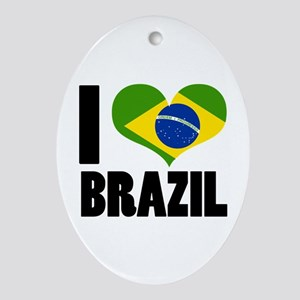 I Heart Brazil Ornament (Oval)