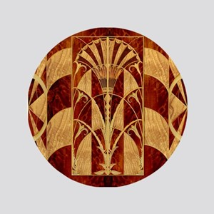 Harvest Moons Art Deco Panel Button