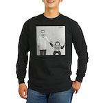 I'm With Stupid (no text) Long Sleeve Dark T-Shirt