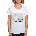 I'm With Stupid (no text) Women's V-Neck T-Shirt