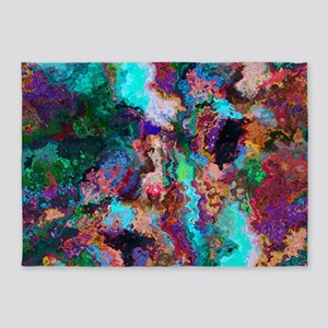 Abstract Oil Color Mix 5'x7'Area Rug