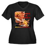 BarBQ Women's Plus Size V-Neck Dark T-Shirt
