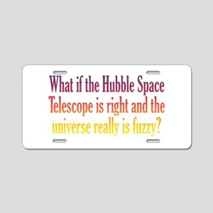 Hubble Telescope Aluminum License Plate