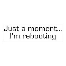 I'm Rebooting 42x14 Wall Peel