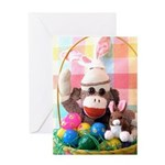 Ernie the Sock Monkey Easter Greeting Card