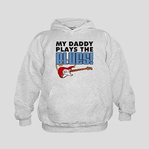 Daddy Plays Blues Kids Hoodie