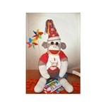 Ernie the Sock Monkey Birthday Rectangle Magnet