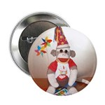 "Ernie the Sock Monkey B'day 2.25"" Button (100"