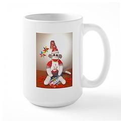 Ernie the Sock Monkey Birthday Large Mug