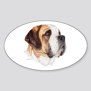 Saint Bernard Oval Sticker