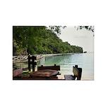 Malaysia beach Rectangle Magnet