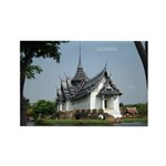 Thailand Temple Rectangle Magnet