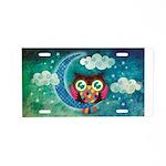 My Crescent Owl Aluminum License Plate