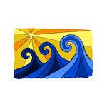 Shining Waves - 38.5 x 24.5 Wall Peel
