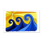 Shining Waves - 22x14 Wall Peel