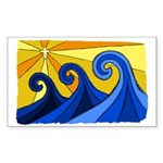 Shining Waves - Sticker (Rectangle 50 pk)