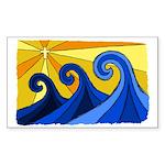 Shining Waves - Sticker (Rectangle)