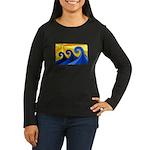 Shining Waves - Women's Long Sleeve Dark T-Shirt