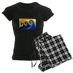 Shining Waves - Women's Dark Pajamas