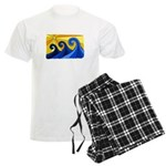 Shining Waves - Men's Light Pajamas