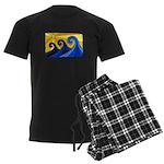 Shining Waves - Men's Dark Pajamas