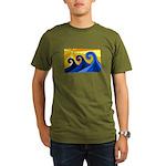 Shining Waves - Organic Men's T-Shirt (dark)
