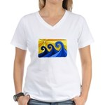 Shining Waves - Women's V-Neck T-Shirt