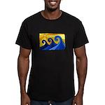 Shining Waves - Men's Fitted T-Shirt (dark)