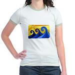 Shining Waves - Jr. Ringer T-Shirt