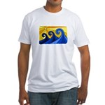 Shining Waves - Fitted T-Shirt
