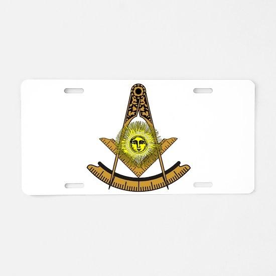 Masonic Aluminum License Plate