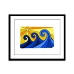 Shining Waves - Framed Panel Print