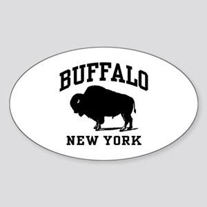 Buffalo New York Sticker (Oval)