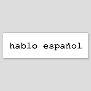 I Speak Spanish Sticker (Bumper)
