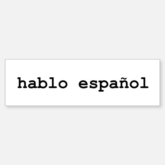I speak spanish sticker bumper