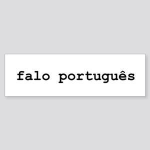 I Speak Portuguese Sticker (Bumper)
